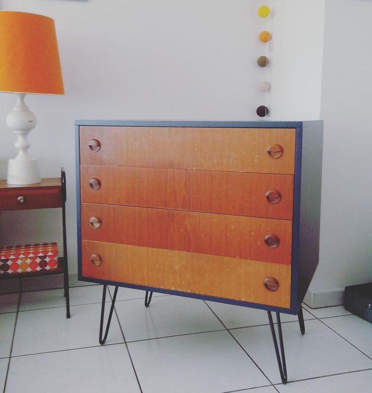 Atelier Ripaton — Hairpin legs DIY meuble de rangement restauré Hairpin legs disponibles de