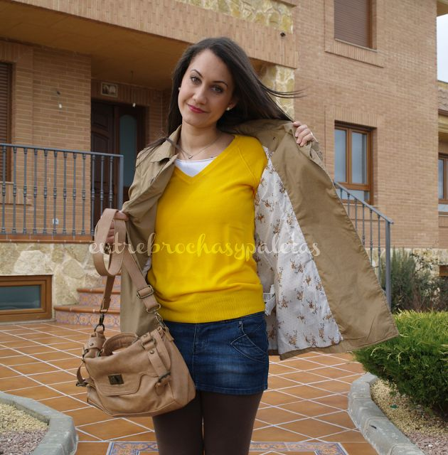Jersey amarillo | Outfit y maquillaje