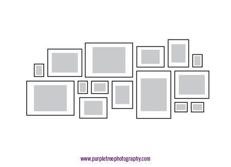 i like this type of asymmetrical photo arrangement