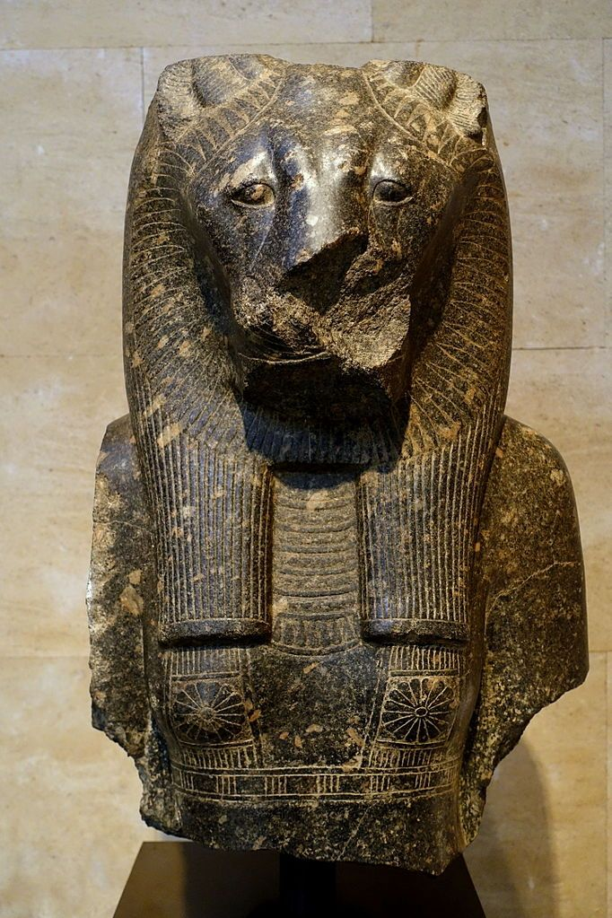 Statue of the ancient Egyptian lion goddess Sekhmet 18th Dynasty (New Kingdom).Found at the Temple of Mut,Karnak.