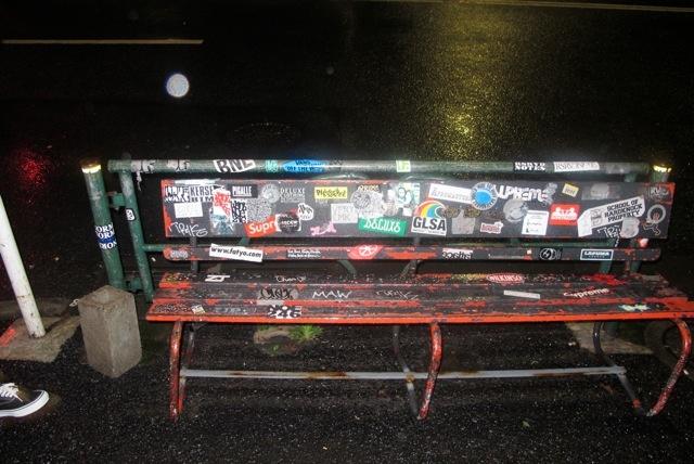 Stick up bench