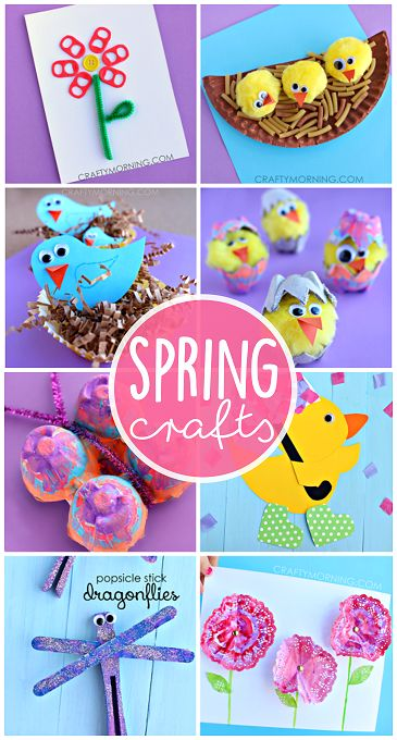 Beautiful Spring Crafts for Kids to Create (Find birds, flowers, butterflies, dragonflies, and more art projects!)   CraftyMorning.com