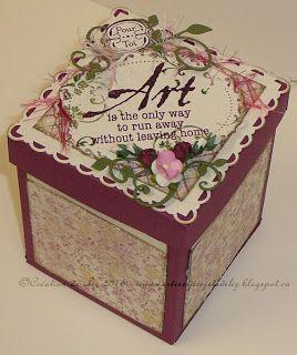 Cartes artisanales et autres projets artistiques de Liz: Un ensemble carte et boîte vintage