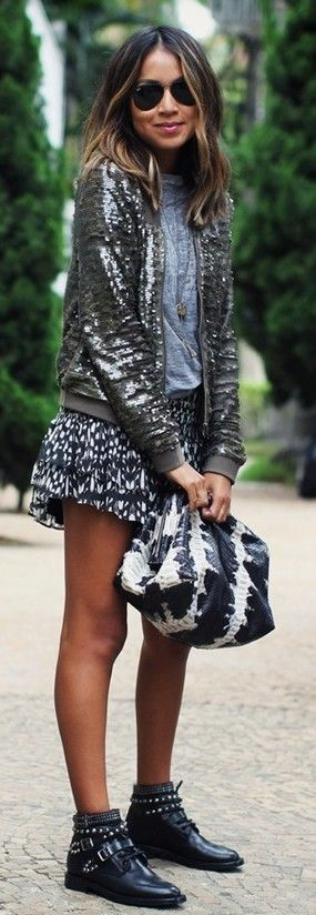 Alaia sequins bomber jacket