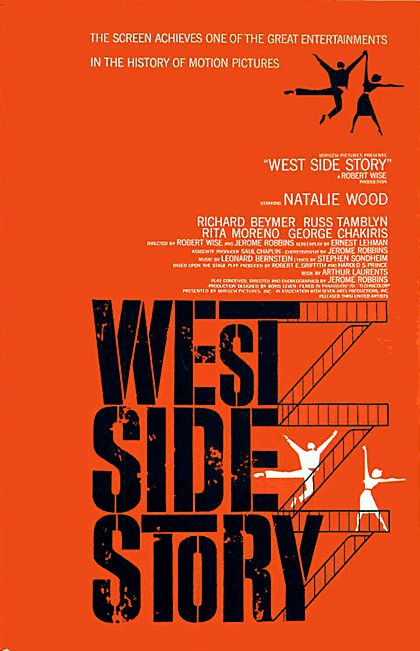 Saul Bass West Side Story poster design
