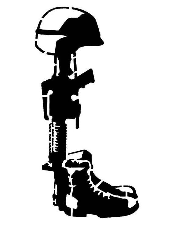 """All Gave Some Some Gave All Soldier 11/"""" x 8.5/"""" Stencil FAST FREE SHIPPING"""