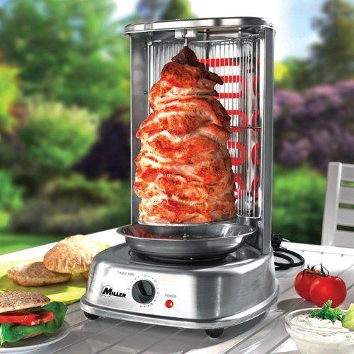 Electric Shawarma Kebab Doner Machine Vertical Broiler Grill Gyro Rotisserie DIY