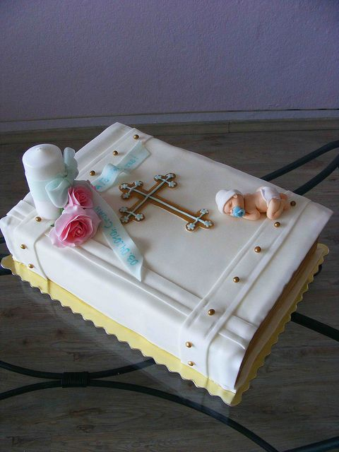 Christening cake by bubolinkata, via Flickr