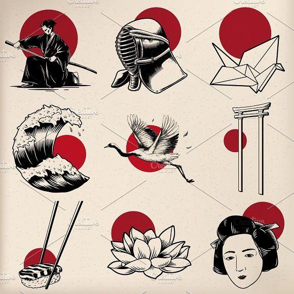 Illustration Of Japanese Style Japanese Illustration Japanese Tattoo Art Japanese Tattoo
