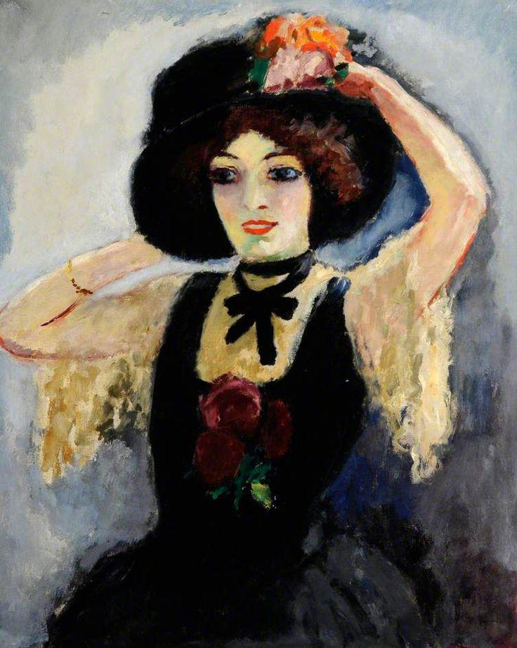 Kiki de Montparnasse (1901–1953) c.1909 - Kees van Dongen (Cornelis Théodorus Marie van Dongen) - (Dutch : 1877-1968)