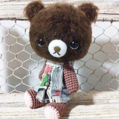 かぎ針編みのくまのアイデア♡つぶらな瞳のふわふわくまちゃん❤︎