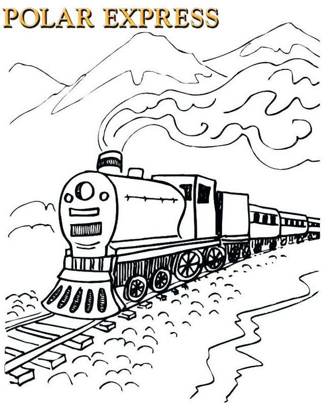 Polar Express Movie Coloring Page Dengan Gambar