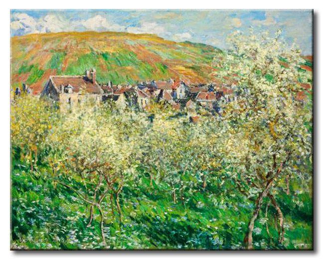 MU_MN2006 _ t_Monet _ Flowering Plum Trees / Cuadro Paisaje, Ciruelos en Flor