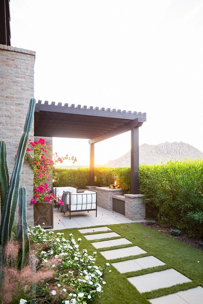 Private Patio Small Patio Out Of Master Bedroom With Pergola And Outdoor Fireplace Patio Pergola Smallpatio Outdoorfire Pergola Pergola Plans Pergola Patio