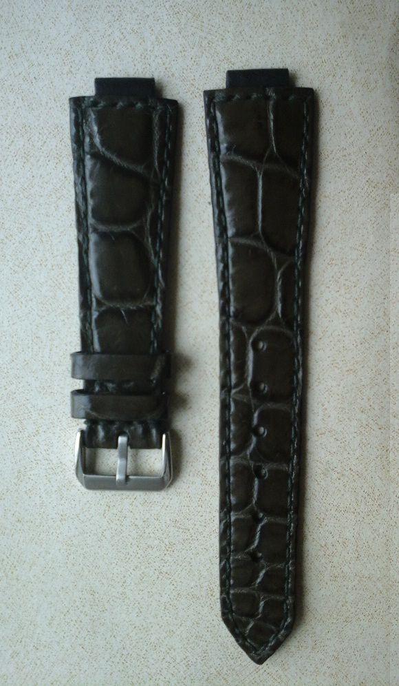 Ремешок для часов из натуральной кожи крокодила. #hardzievich #watchband