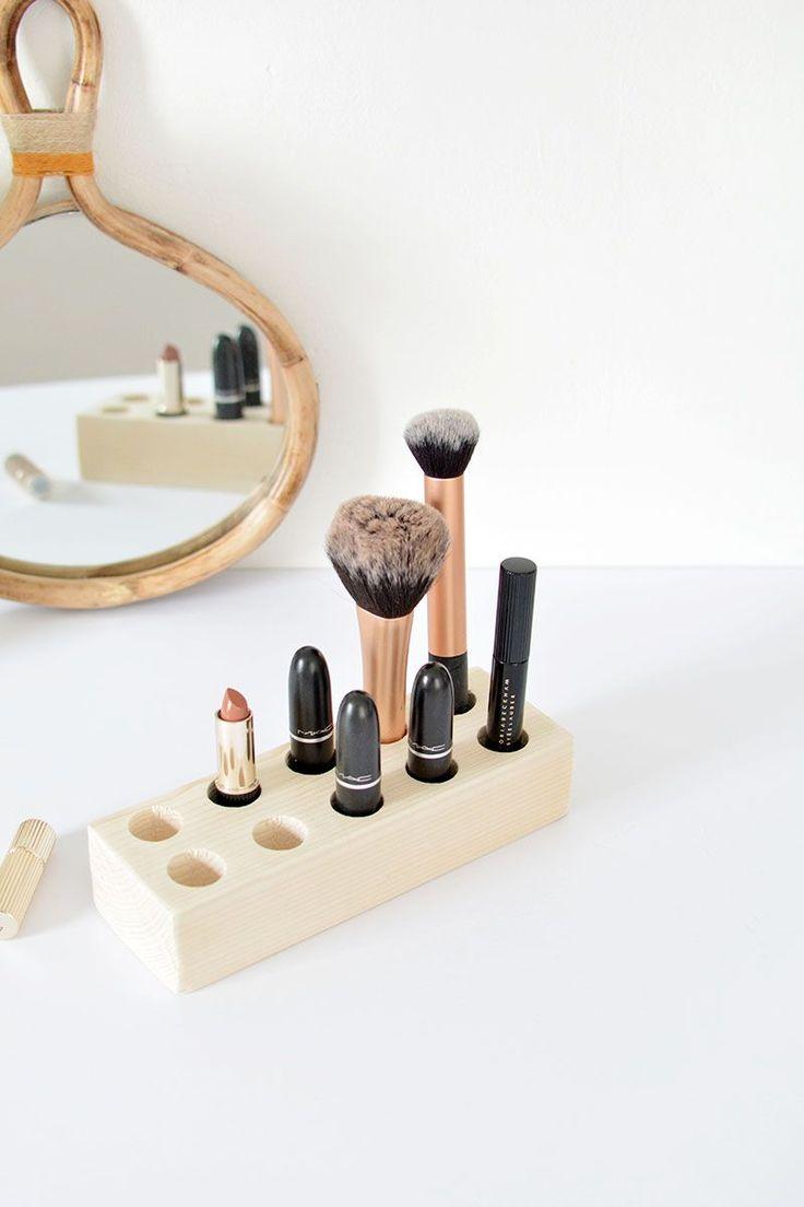 DIY simple make up storage @burkatron