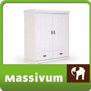 Bild: Wäscheschrank weiß Kiefer massiv Holz Kommode Schrank Möbel NEU GARDEN  Abmessungen BxHxT: 120 x 142 x 50 cm    EUR 439