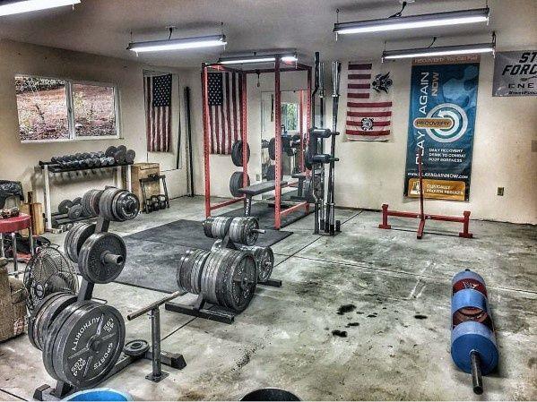 Top 75 best garage gym ideas home fitness center designs garage