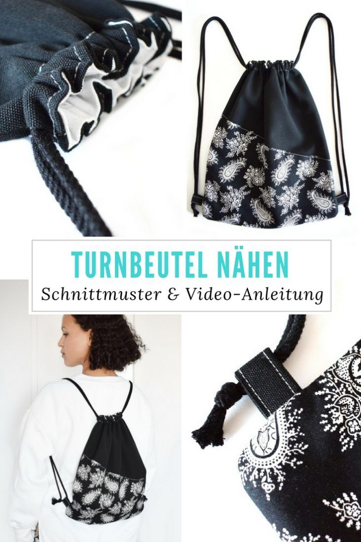 Diy Mode Turnbeutel Nähen Mit Schnittmuster Things To Do Bag