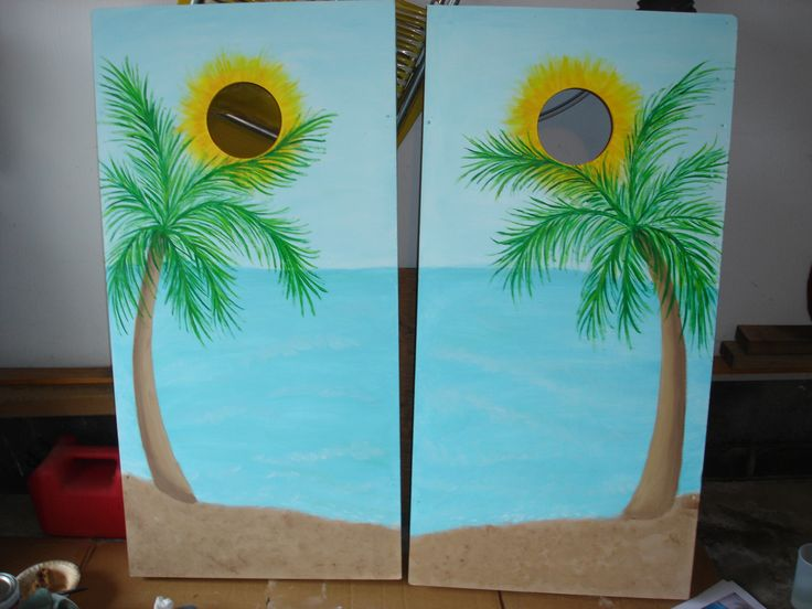 hand painted corn hole boards - Cornhole Design Ideas