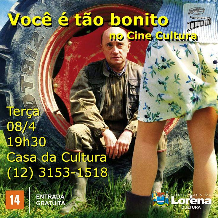 Arte feita para divulgar o Cine Cultura da Prefeitura de Lorena no facebook.