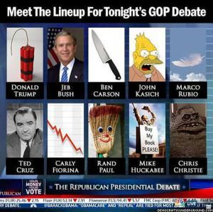 Funny Memes Skewering the 2016 GOP Candidates: GOP Debate Lineup