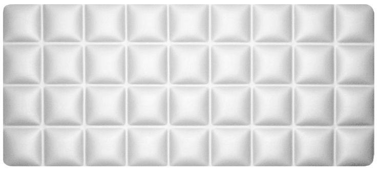 Cabecero tapizado modelo CHOCOLATE, color blanco.