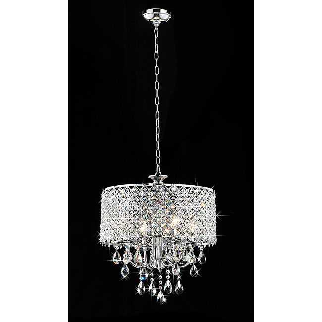 #5: Chrome Finish 4-light Round Chandelier - 2 - Brightstar products available at Springlights in Kloof, Durban.