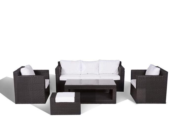 Contemporary Outdoor Sofa Set - Resin Wicker Furniture - ROMA