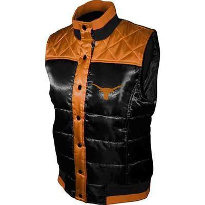 Fanzz Sports Apparel,Texas Longhorns NCAA Ladies Polar Puffer Vest (Burnt Orange/Black) NFL, NBA, MLB Apparel, NFL, MLB, NBA Jerseys and Merchandise, NHL Shop | Fanzz