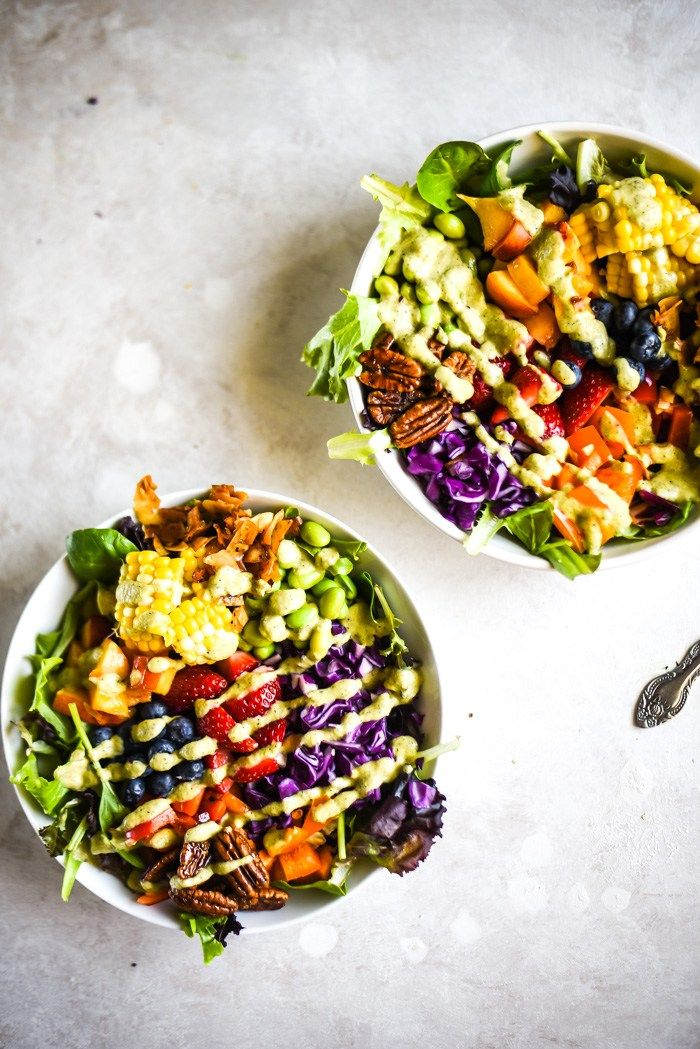 Rainbow Veggie Cobb Salad
