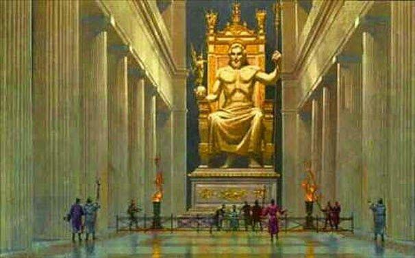 Η Ολυμπία, όπως η Δωδώνη, οι Δελφοί, κλπ ήταν τόπος λατρείας και «περιείχε» το μεγαλοπρεπέστερο όλων των κτιρίων, τον ναό τον αφιερωμένο στον ίδιο τον Δία, θεό θεών και ανθρώπων. Αρχιτέκτονας του ναού ήταν ο Λίβων (α΄ μισό ε΄ αιώνα π.Χ.) από την γειτονική πόλη Ήλιδα, ο κράτιστος των Ελλήνων αρχιτεκτόνων της ακμής του δωρικού …