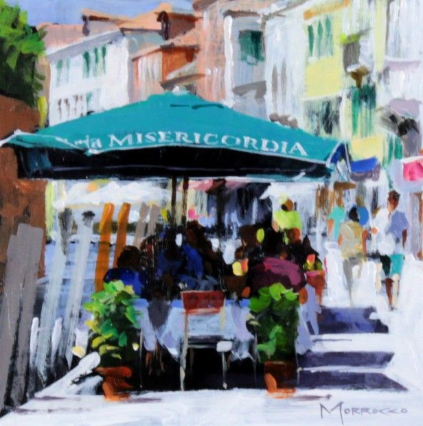 Jack Morrocco, Trattoria Misericordia, Venice, Acrylic | Contemporary Scottish Art