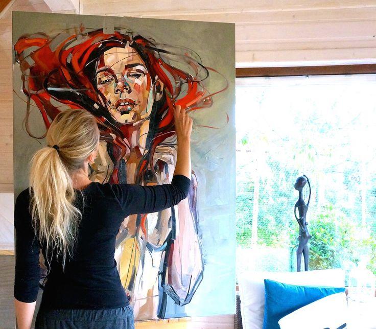 STUDIO/ Kaszuby/ process Red Hair 130x100cm