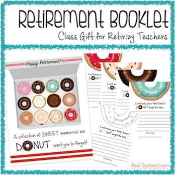 "The end of the year brings goodbyes for those teachers retiring. In this booklet, students will share ""sweet""; memories to be sure you ""donut"" forget- even after retirement! This booklet is a quick and easy way to show appreciation for retiring teachers from the class."