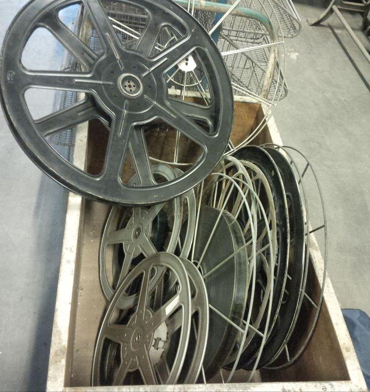 Partij, oude, metalen filmspoelen. Vanaf 25,- per stuk