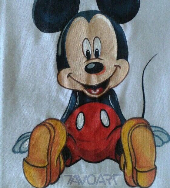 Camisetas  pintadas a mano  Mickey Mouse