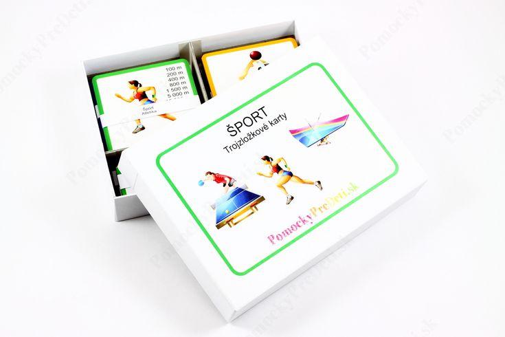 Šport, 3-zložkové karty #ucebnepomocky #didaktickehracky #homeschooling #domacevzdelavanie #pomockypredeti #teachingaids #montessori #trojzlozkovekarty  #threepartcards #sportcards