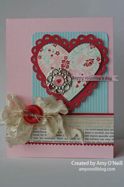 A Semi-Shabby Valentine | Amy's Paper Crafts