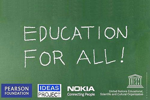 For a period of eight months, UNESCO, Nokia and the Pearson Foundation asked education experts, teachers, parents, students, software developers and the public in general to take part in the Education for All (EFA) Crowdsourcing Challenge, making suggestions on how mobile communication can help achieve the six EFA goals established at the World Education Forum in 2000.