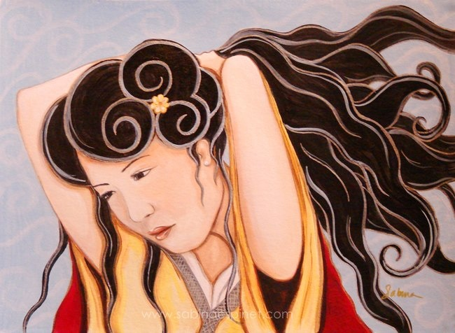 Hua Mulan painting by Sabina Espinet www.sabinaespinet.com