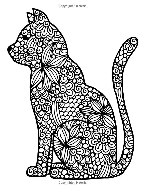 Stress Coloring Pages Animals : Bästa bilder om cats to color på pinterest