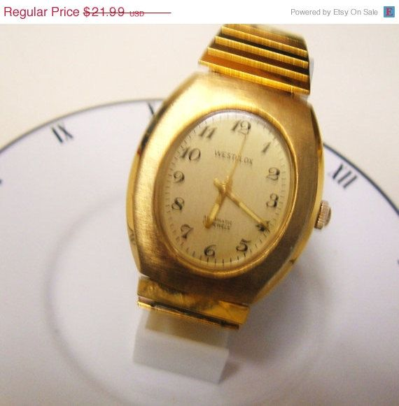 1940s Automatic Self-Winding Westclox Mens by LessieBluesVintage