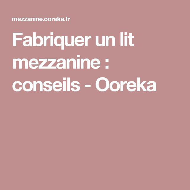 Fabriquer un lit mezzanine : conseils - Ooreka