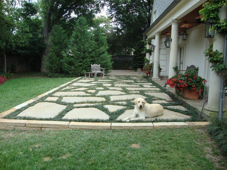 flagstone patio in west fort worth monticello cody landscape blog - Bluestone Patio Ideas