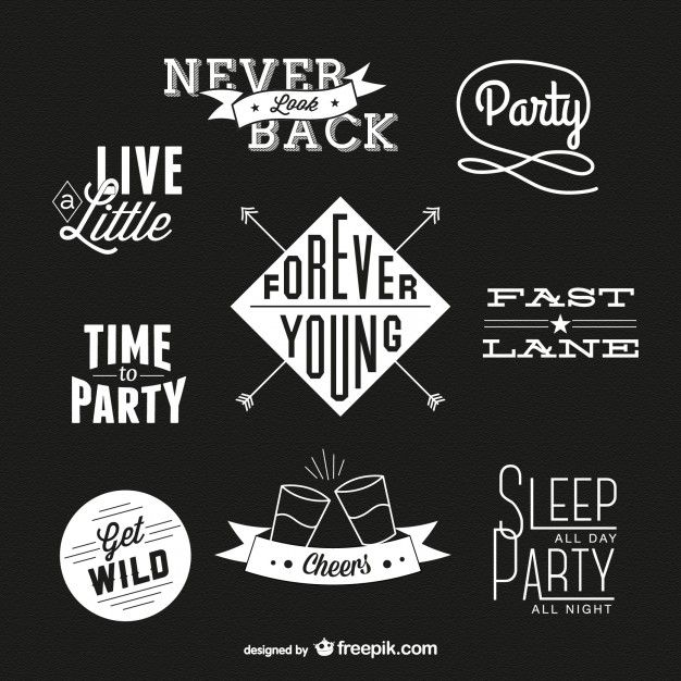Retro Typography Download Free Vector