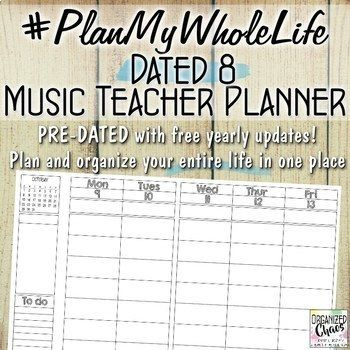 This planner and binder bundle is the ultimate music teacher organizing and planning toolkit for the 2017-2018 school year and beyond!! Everything comes in Powerpoint format so you can add your own text, or delete and move pages, before printing. And best of all: FREE UPDATES each year!