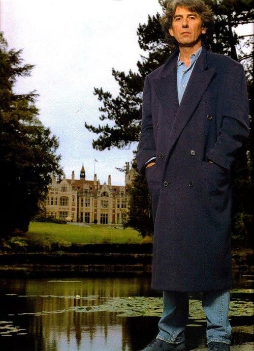 George in front of Friar Park