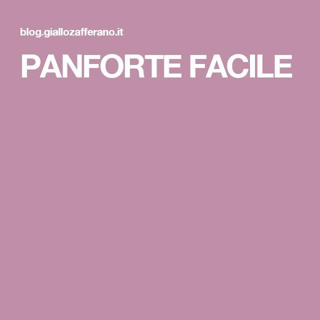 PANFORTE FACILE