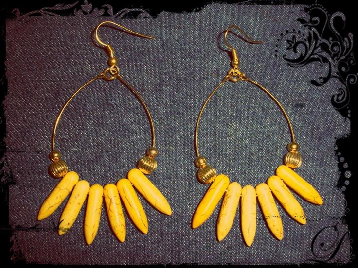 Aros pinches amarillos